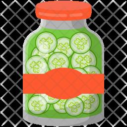 Pickled Cucumber Jar Icon