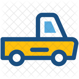 Pickup van Colored Outline Icon