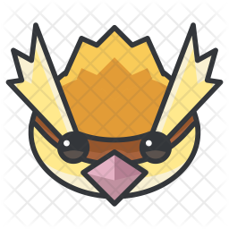 Pidgey Colored Outline Icon