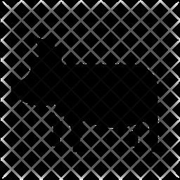 Pig Glyph Icon