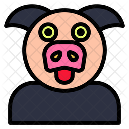 Pig Icon Of Colored Outline Style Available In Svg Png Eps Ai Icon Fonts