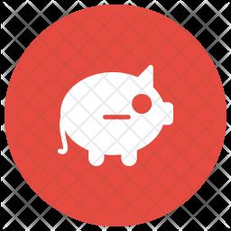 Piggy Bank Glyph Icon