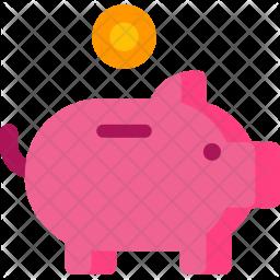 Piggy, Bank Icon