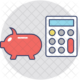 Piggy Calculator Icon