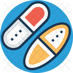 Pills Colored Outline Icon
