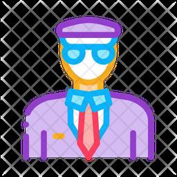 Pilot Colored Outline Icon