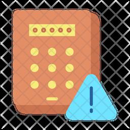 Pin code Keypad Warning Icon