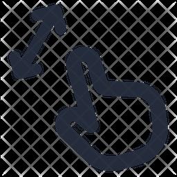 Pinch diagonal Icon