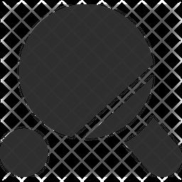 Pingpong Bat Glyph Icon