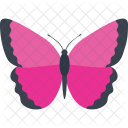 Pink Morpho Butterfly Icon