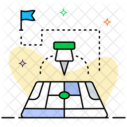 Pinpoint Colored Outline Icon