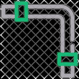 Pipe Line Line Icon