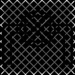 Pipe Valve Line Icon