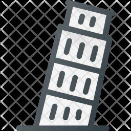 Pisa Colored Outline Icon