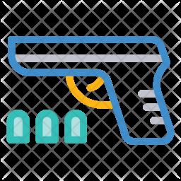 Pistol Colored Outline Icon