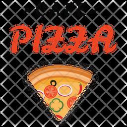 Pizza Cafe Logo Icon