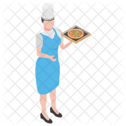 Pizza Serving Icon