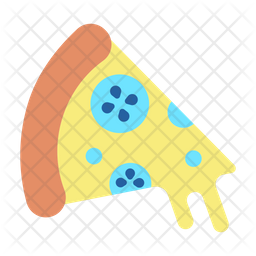 Pizza Slice Flat Icon