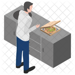Pizza Stall Icon