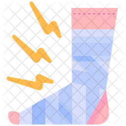 Plastered Foot Icon