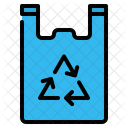 Plastic bag Colored Outline Icon