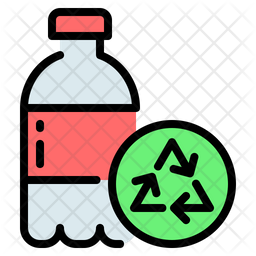 Plastic bottle Colored Outline Icon