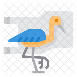 Plastic Pollution With Seabird Icon