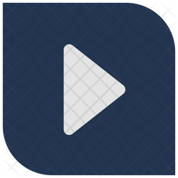 Play filled square button Icon