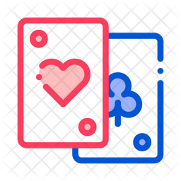 Playing Cards Colored Outline Icon
