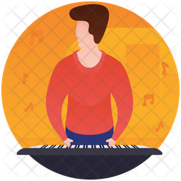 Playing Piano Icon