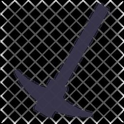 Plow Glyph Icon