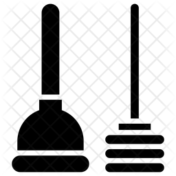 Plunger Glyph Icon