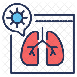 Pneumonia Lungs Icon
