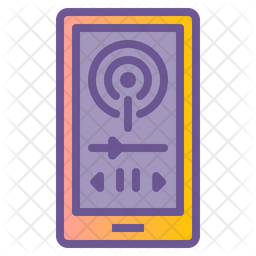 Podcast Colored Outline Icon
