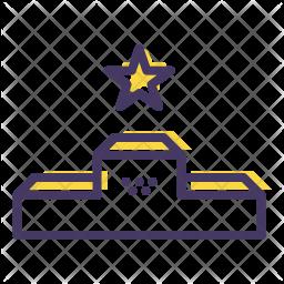 Podium Colored Outline Icon