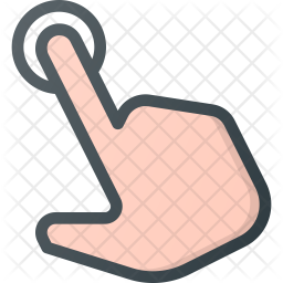 Point Colored Outline Icon