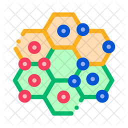 Points Colored Outline Icon