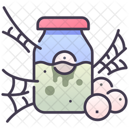 Poison Bottle With Eyes Icon