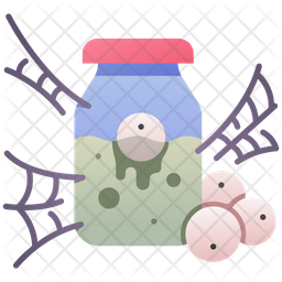 Poison Bottle With Eyes Icon