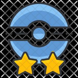 Poke trainer Colored Outline Icon