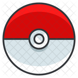 Pokeball Colored Outline Icon
