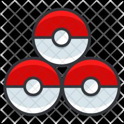 Pokeballs Colored Outline Icon