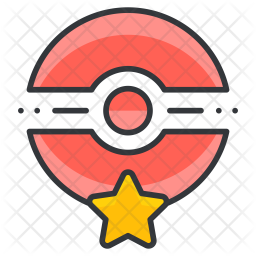 Pokecenter Colored Outline Icon