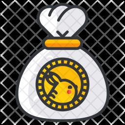 Pokemon bag Colored Outline Icon