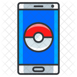 Pokemon game Colored Outline Icon