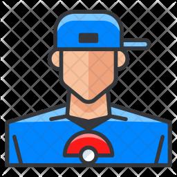 Pokemon trainer Colored Outline Icon