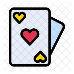 Poker Card Colored Outline Icon