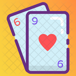Poker Cards Colored Outline Icon