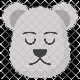 Polar Bear Face Emoji Icon