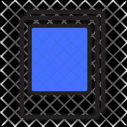 Polaroid Frame Colored Outline Icon